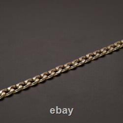 SEMI SOLID 9ct Yellow Gold Italian Curb Bracelet 7.5 RRP £310 RH5 7.5
