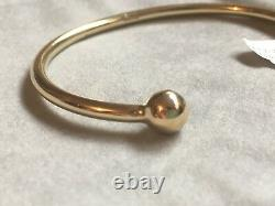 SOLID 9ct Yellow Gold Torque Bangle