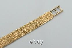 STUNNING CASED 9ct GOLD ROAMER LADIES WRIST WATCH AND BRACELET 21.43 g