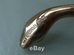 SUPERB 70's 9CT GOLD DOUBLE SNAKE BANGLE BRACELET RUBY EYES 30.7GM CROPP & FARR