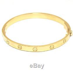 Screw Love Bangle Heavy Handmade Bracelet 25g UK Hallmarked 9ct Gold B356