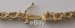 Secondhand 9ct Yellow Gold Multi Diamond Bracelet (7 1/2 inches)