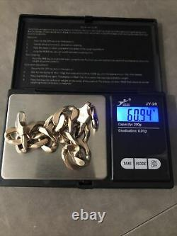 Solid 9 ct gold bracelet heavy over 60 grammes
