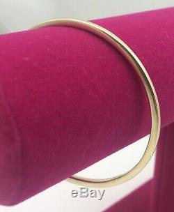 Solid 9ct Gold Circular Bangle. 20.4 Grams. Edinburgh Hallmarks
