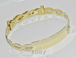 Solid 9ct Gold Expanding Baby ID Bangle NEW Gift Boxed