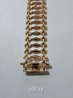 Solid 9ct Gold Italian Bracelet, 13.5gms. Very delicate. Beautiful