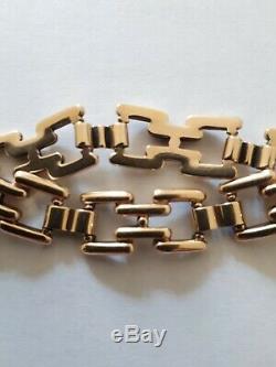 Solid 9ct Gold Vintage Bracelet, 30gms