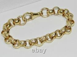 Solid 9ct Yellow Gold 6.5 Inch Kid's / Children's / Baby Belcher Bracelet