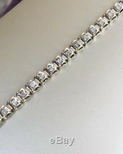 Solid 9ct Yellow Gold Solitaire Diamond Tennis Bracelet 1ct 100 Pts