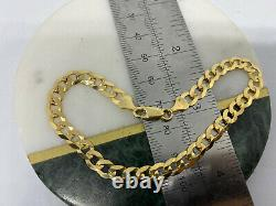 Solid Genuine 9carat Yellow Gold Mens 6mm Curb Link Bracelet 8.5 inch New