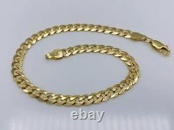 Solid Genuine 9ct Yellow Gold 5mm Curb Link Bracelet 7.5 BRAND NEW
