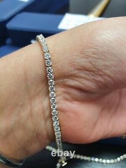 Special Offer! 4ct Round Diamond Tennis Bracelet in Yellow Gold UK Hallmarked