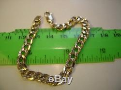 Stunning 9 Ct Yellow Gold 7 Bracelet -old- Lovely Plump Curb Design
