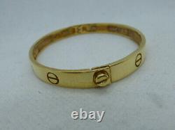 Stunning 9ct Gold 16cm Screw Bangle Fully hallmarked