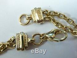 Stunning 9ct Gold 7.5 Fancy Belcher Strand Link Bracelet