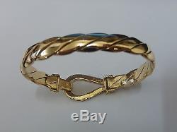 Stunning 9ct Gold 7 Twist Bangle