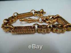 Stunning 9ct Rose Gold 8 Very Fancy & Unusual Link Bracelet
