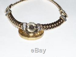 Stunning 9ct Solid Gold Diamond Ladies Bracelet 375 7.5 Long 9k Jewellery