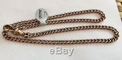 Stunning Antique Rose Gold Heavy 9ct Chain Or Double Bracelet Stamped Every Link