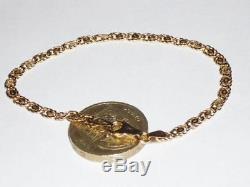 Stunning Ladies 9ct Gold Unusual Design Link Bracelet 7.25 Chain 9k