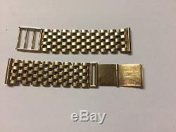 Stunning Mens Solid 9ct Gold Watch Bracelet Strap -25.20 grams OMEGA, ROLEX, ETC