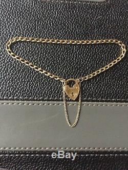Stunning Vintage 9ct Solid Yellow Gold Charm Bracelet Not Hollow