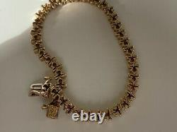 Stunnning 9ct Gold Diamond Bracelet 2 Carat Of Diamonds