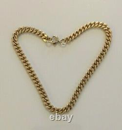 Superb Quality 8 Vintage Solid 9ct Yellow Gold Fancy Curb Link Bracelet Chain