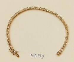 THIS IS A 9ct GOLD DIAMOND SET BRACELET