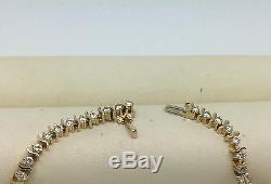 Tennisarmband 14kt Gold Diamanten 2.9ct Brillianten