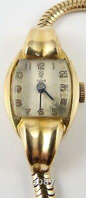 Tudor Rolex 9ct gold Vintage wristwatch 7.5 inch 9ct bracelet. In working order
