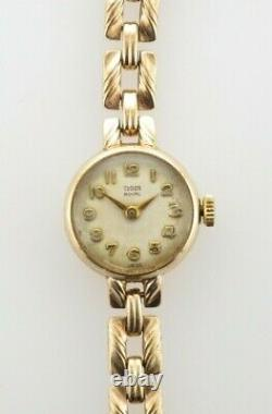 Tudor Royal Ladies Vintage 9ct Gold Watch From 1960