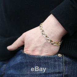 UK Hallmarked 9ct Gold Child's Curb Bracelet 6 8mm 7G RRP £330 (B1 6)