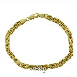 UK Hallmarked 9ct Gold LADIES Byzantine Bracelet 7.75-4mm-8g RRP £355 (I6 7.75)