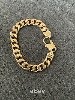 Used 9 ct gold mens bracelets