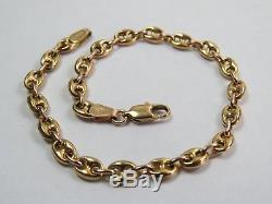 VINTAGE 9ct GOLD ANCHOR LINK BRACELET 7 1/2 inch C. 1980