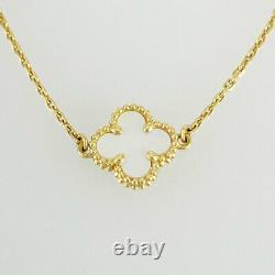 Van Cleef & Arpels Sweet Alhambra 18K Yellow Gold Shell Bracelet from Japan