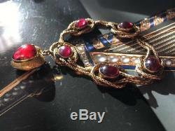 Victorian 9CT Gold Garnet Bracelet (R2645)
