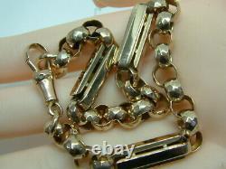 Victorian 9ct Gold Rose Gold Fancy Belcher/bar Linked Bracelet 9.5 Inches