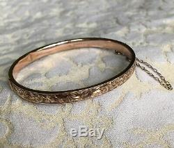 Victorian 9ct Rose Gold Bangle Bracelet