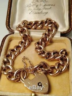 Victorian 9ct Rose Gold Charm Bracelet