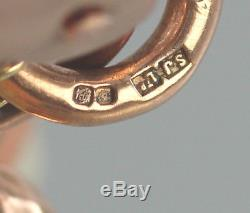 Victorian Ornate 9Ct Rose Gold Bracelet With Padlock Clasp, 17.3grams