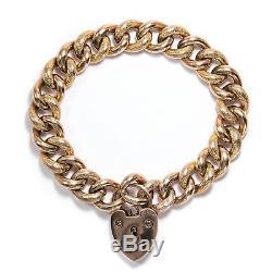 Victorian um 1890 Armband aus 9ct Roségold, mit Herz Schließe / Bracelet GOLD