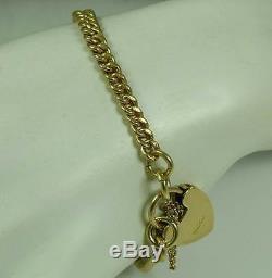 Vintage 1938 16.8 Grams 9ct Gold Uk H/m Bracelet Every Link Hallmarked