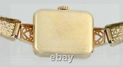 Vintage 1940's CYMA 9Ct 9Kt Sold Gold Ladies Wrist Watch In Original Box
