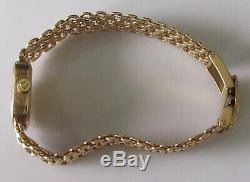 Vintage (1972) Omega Geneve 9ct yellow gold ladies manual link bracelet watch