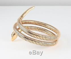 Vintage 9Ct Gold Flexible Double Snake Bangle /Bracelet By Smith & Pepper c 1960