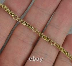 Vintage 9 Carat Yellow Gold 8 Long Bubble Ball Link Bracelet