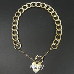 Vintage 9 Ct Gold Hollow Curb Link Gate Bracelet Birmingham 1973 11.7 Grams