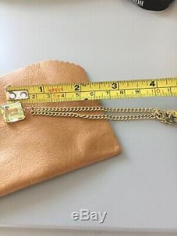 Vintage 9ct Gold Charm link Bracelet and padlock with 9ct charm 7.5 grams